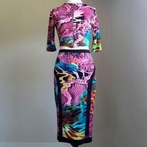 Auditions Multi-color Bodycon 2 Pc Set Top & Skirt